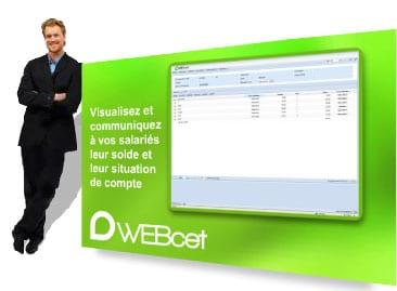 WEBcet - logiciel de gestion des Comptes Epargne-Temps en SaaS distribué par DWS Lille Nord