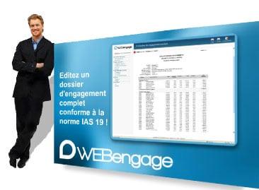 WEBengage Pro logiciel de gestion des engagements d'indemnités de fin carrière distribué par DWS Lille Nord