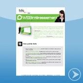 brochure de WEBintéressement - logiciel de gestion de l'intéressement par TDA International distribué par DWS Lille Nord