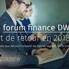 Joignez-vous à nous pour le Forum Finance 2018 !
